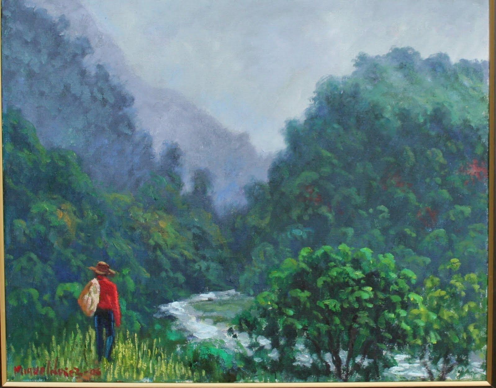 El rió Yuna bordeando ruta ecológica Cordillera Central