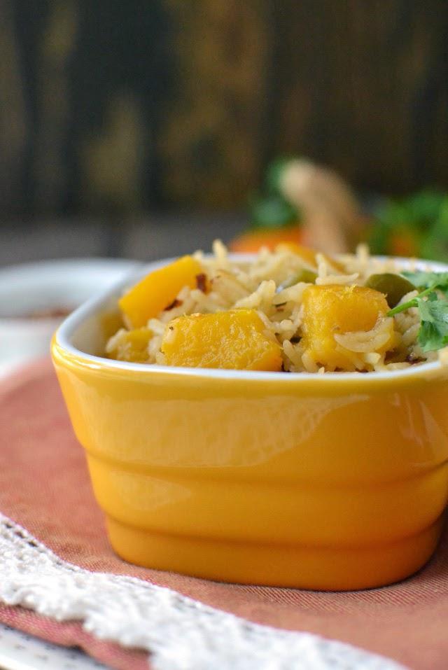 Pumpkin Rice for Thanksgiving (Arroz con Calabaza -- Vegan Recipe)