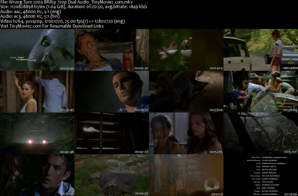 Download Wrong Turn 5 Bloodlines (2012) English 480p 300MB