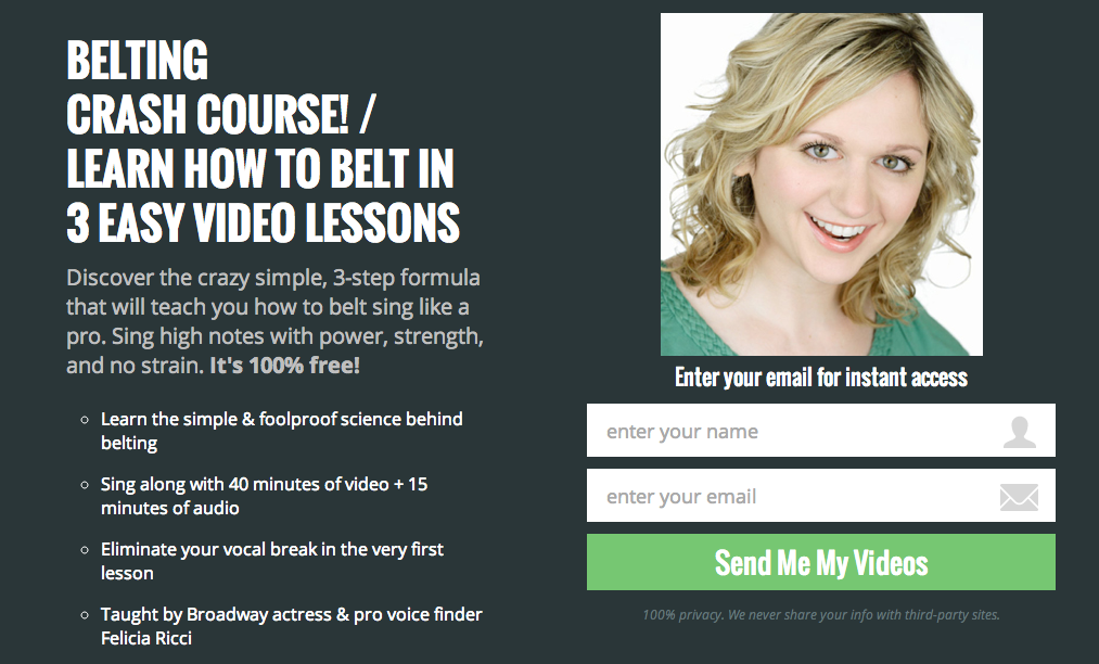 free singing course learn how to belt sing