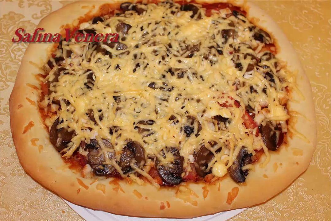 Рецепты пиццы в домашних условиях из грибов 594