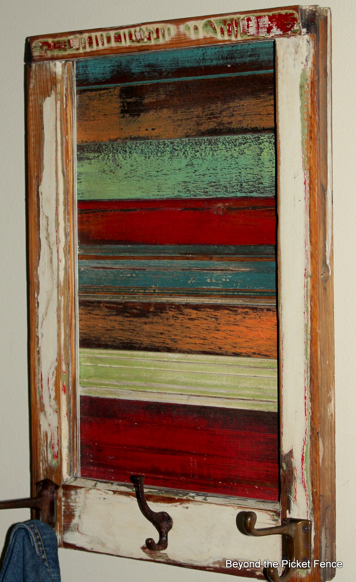 Wooden Window Frame Wall Decor : Beyond the picket fence smaller salvaged window art
