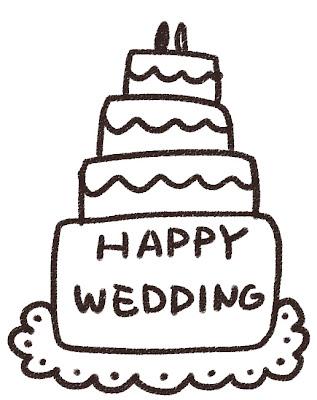 ウェディングケーキのイラスト(結婚式)