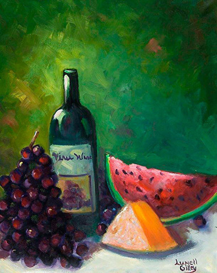 "Lunell Gilley Fine Art: ""Cheese and Wine"" Original Still ... Wine And Cheese Art"