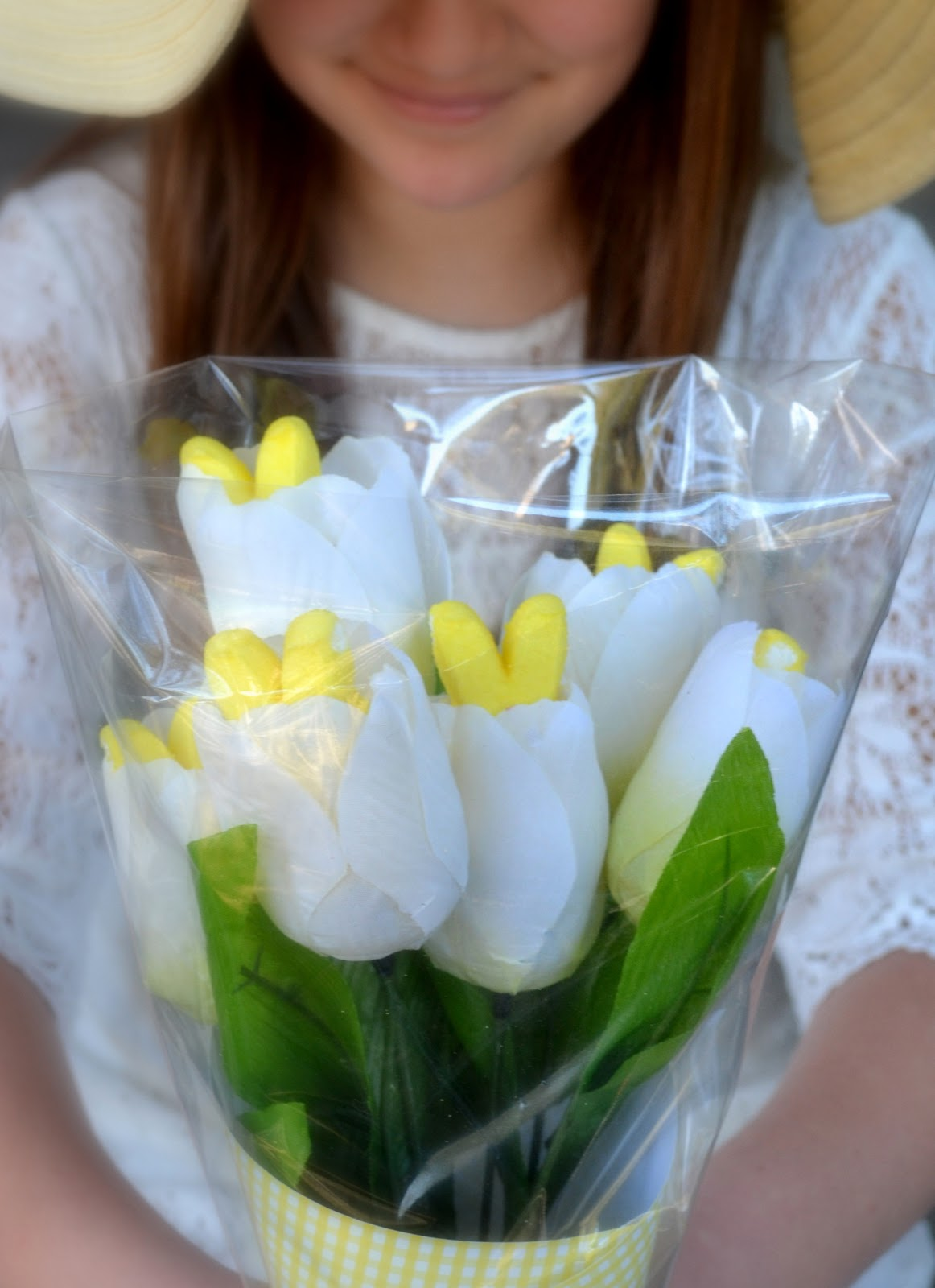 Everything'sing Up {peeps} Bunnies Bouquet ~ A Dollar Store Diy
