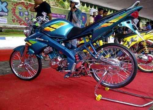 Top modifikasi motor vixion drag