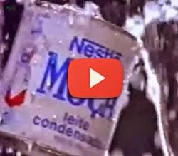 """Campanha de lançamento da campanha """"Bateu, Tomou"""" de Leite Moça em 1992."""