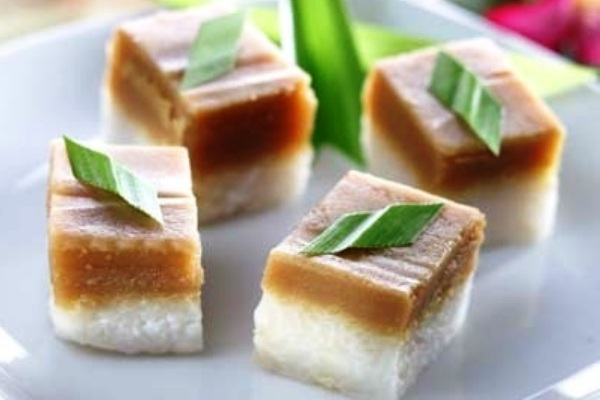 Srikaya layer sticky rice cake. Nusantara Culinary