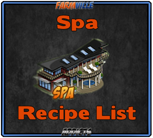 Spa Recipe List