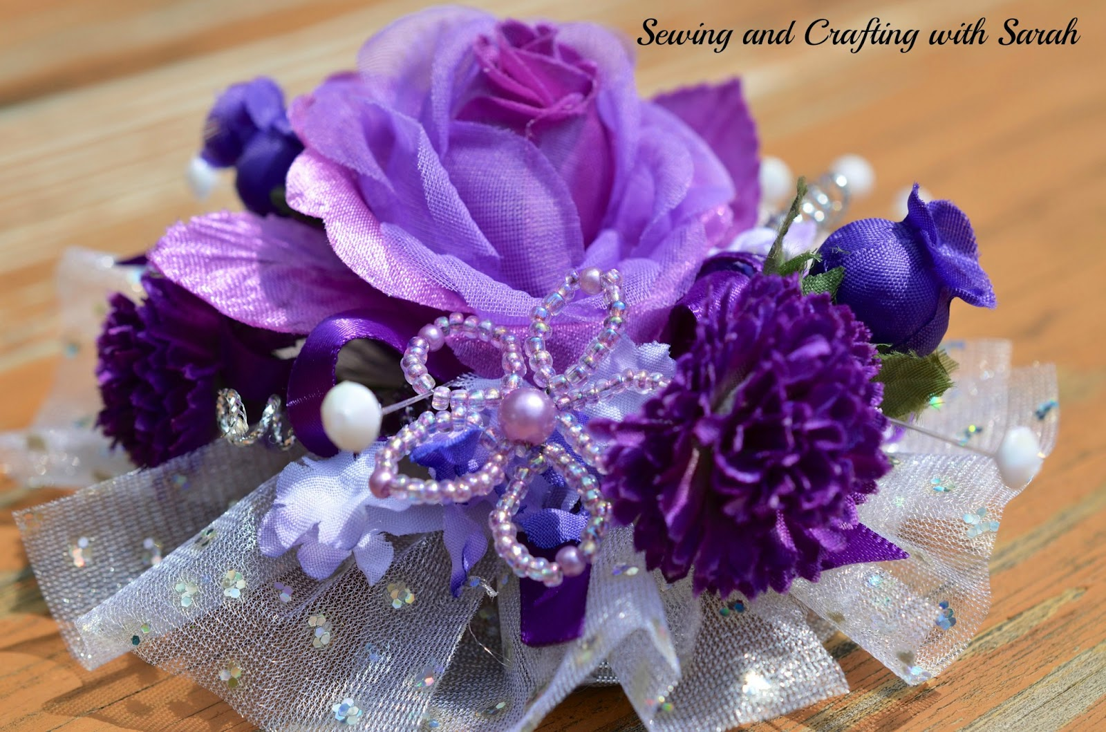 Sewing And Crafting With Sarah Design A Bowdabra Ribbon Wrist Corsage
