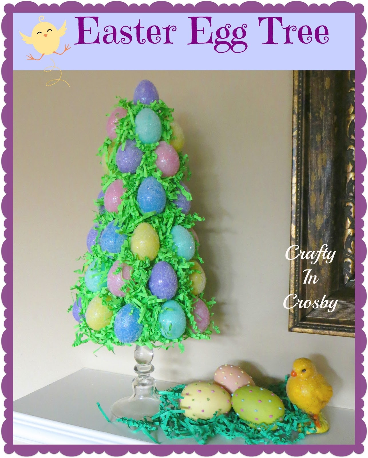 Crafty in crosby easter egg tree revisited How to make an easter egg tree