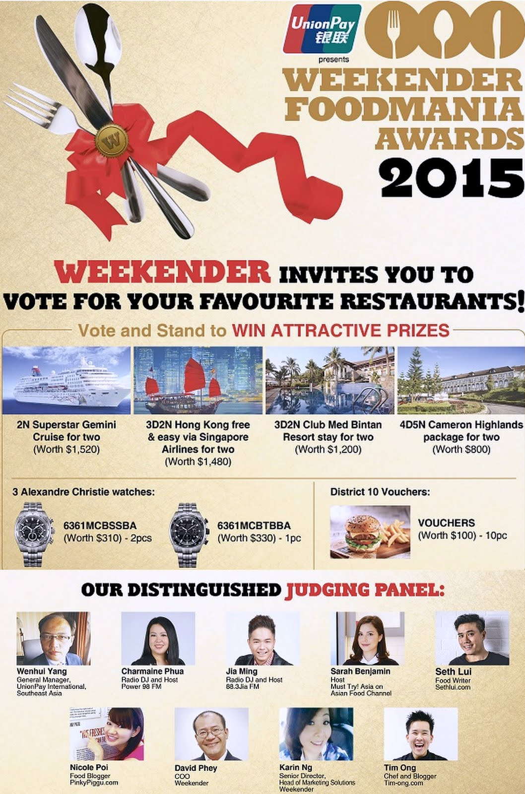 Weekender Foodmania Awards 2015 ~ Vote & Win!