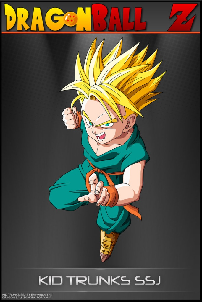 dragon ball z wallpapers kid trunks super saiyan 1