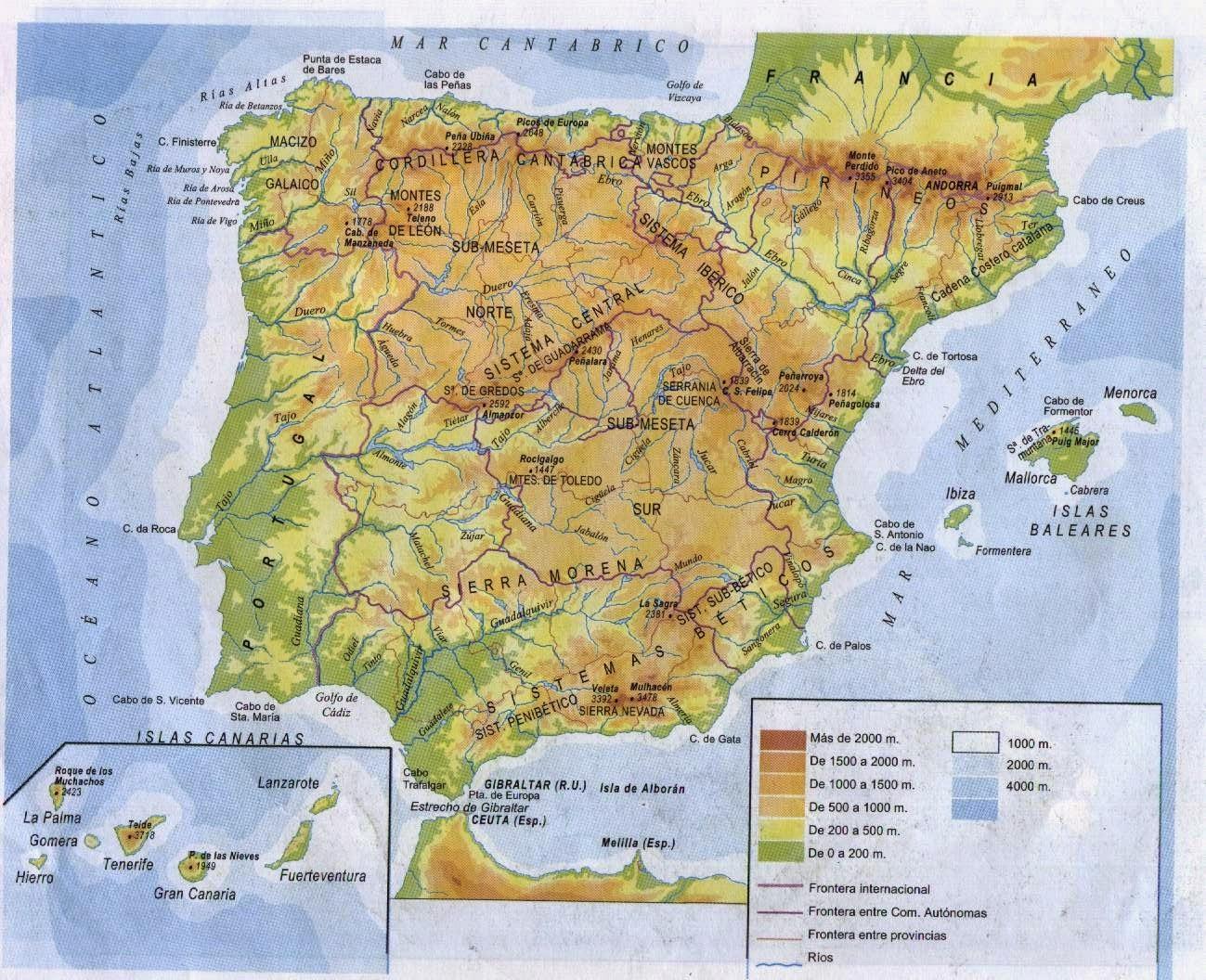 Mapas del mundo interactivos (países, banderas, cordilleras, ríos...