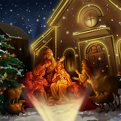 Celebrating Jesus birth, Christmas download free wallpapers for Apple iPad