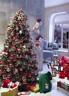 árvore de Natal vermelho e verde