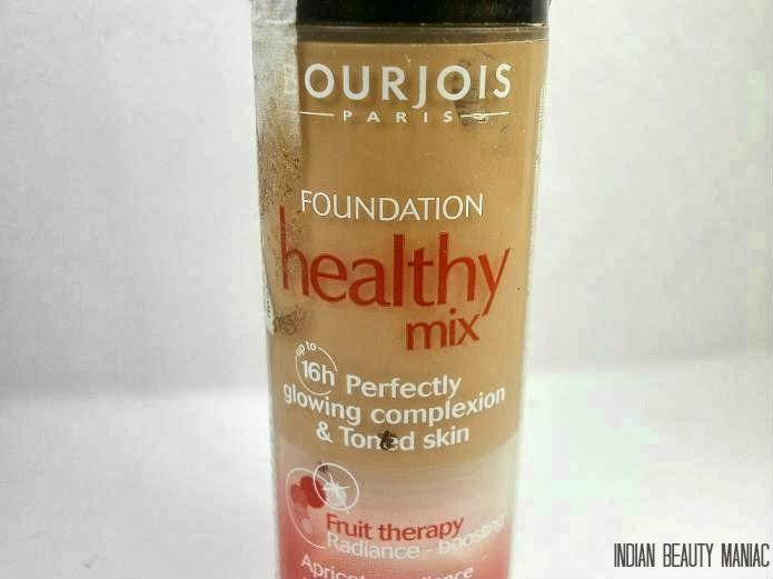Bourjois Healthy Mix Foundation in Shade No. 55 Dark Beige review swatch