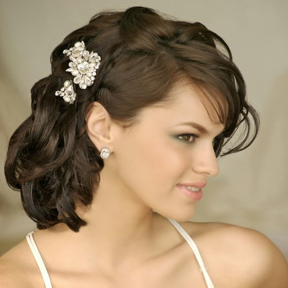 Wedding Hairstyles For Medium Hair Side Medium Length Wedding ...
