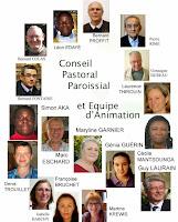 Le Conseil Pastoral Paroissial et l'Equipe d'Animation