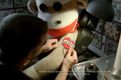 sock monkey tattoo kia commercial