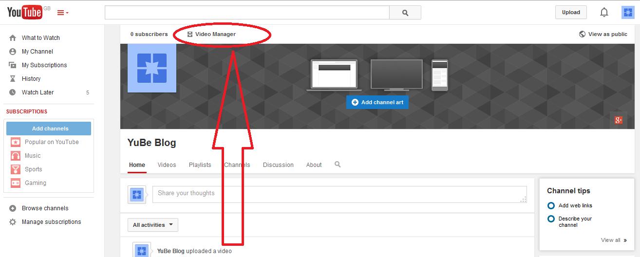 add link into video description