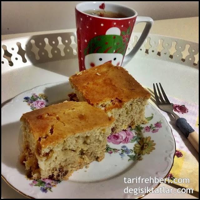 İncirli Kayısılı Çaylı Sütlü Islak Kek Tarifi