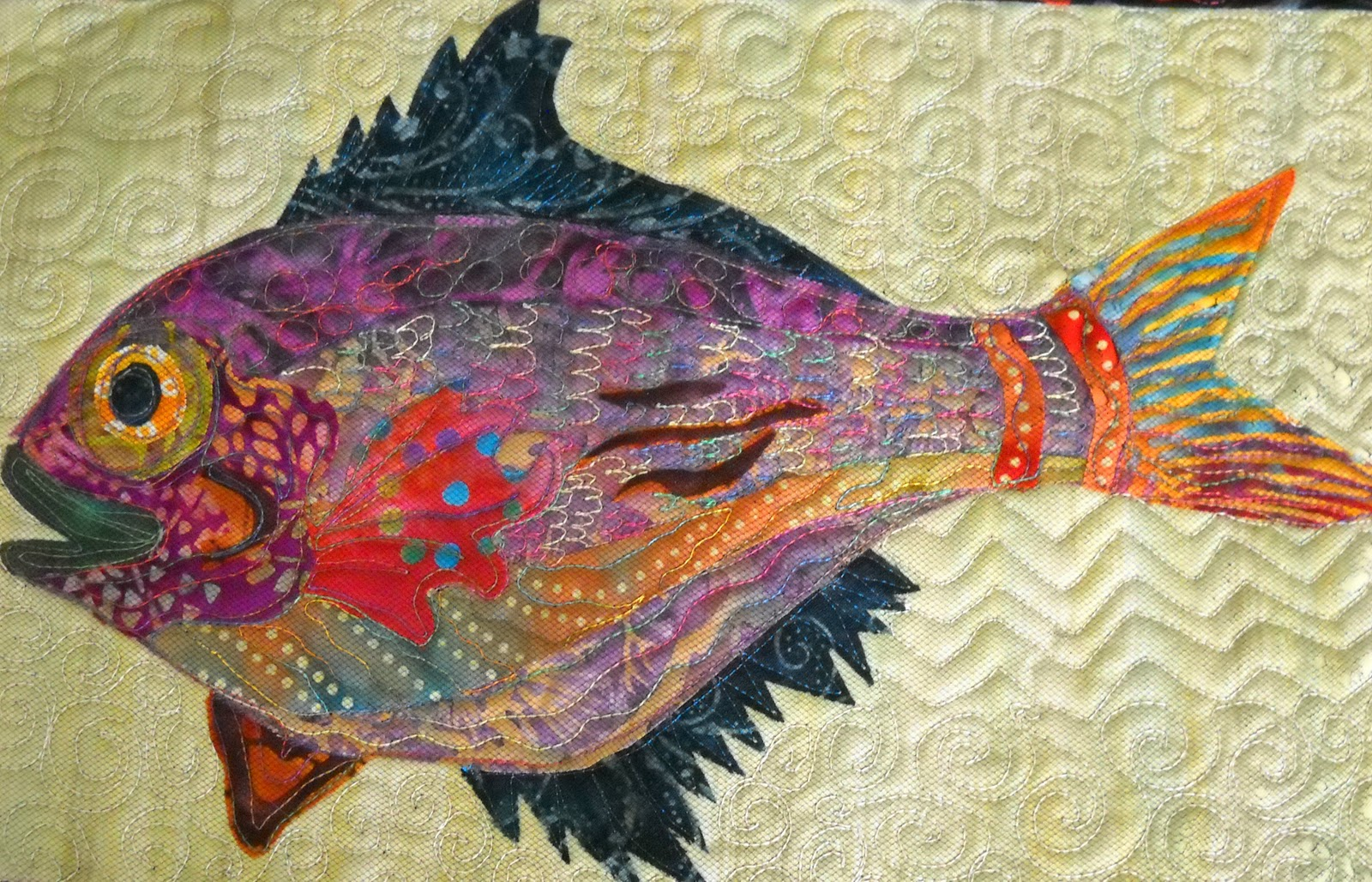 Quilting potpourri a fish story part 1 for Fish fabric for quilting