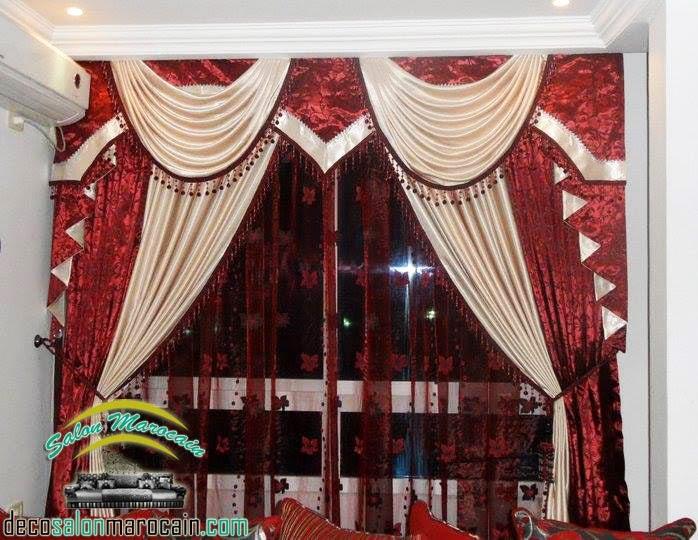 Boutique salon marocain 2016 2017 rideaux occultants for Style de rideaux pour salon