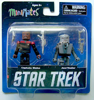 Diamond Select Star Trek Legacy Minimates - Captain Sisco & Jem Hadar Figures