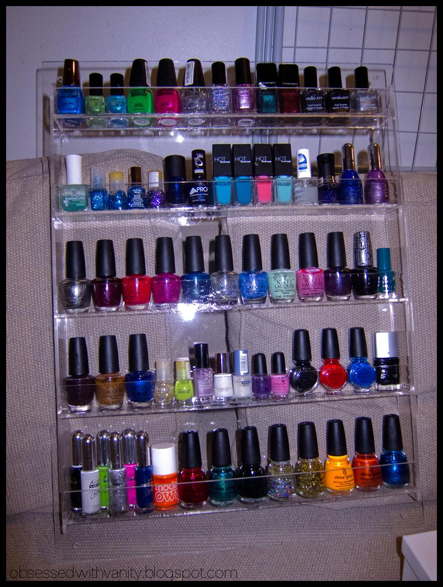 obsessed with vanity nail polish rack. Black Bedroom Furniture Sets. Home Design Ideas