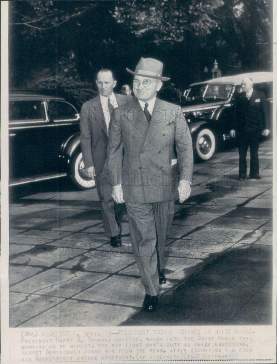 SAIC George Drescher behind Truman- first day as president