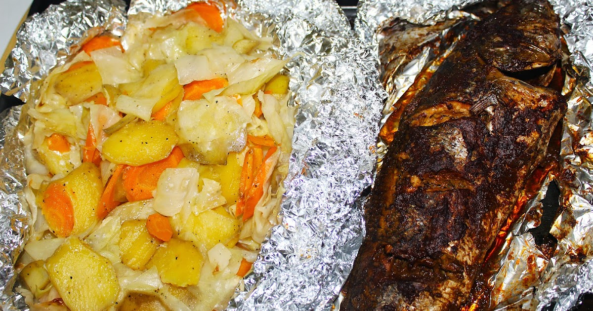 Dressed nigerian style oven baked fish and vegetables for Oven grilled fish recipes