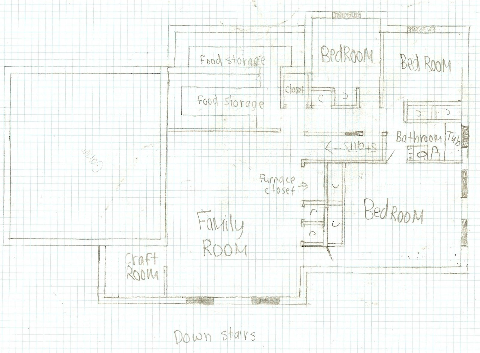 A little peace in paradise junior rachel s apartment and house plans How to draw a house plan