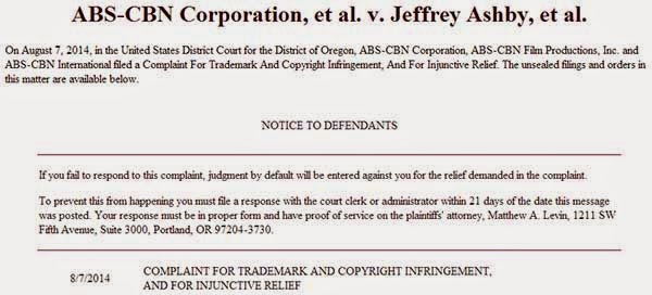 ABS-CBN sues owners of websites wih pirated Kapamilya shows