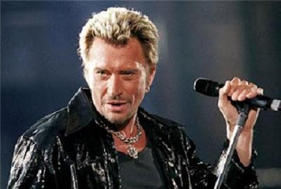 cantante de rock Johnny Hallyday