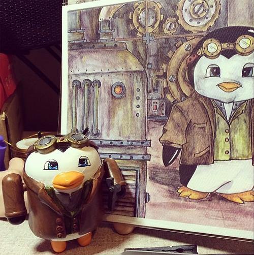 Penguin Engineer Droid Tanya Davis android figurine