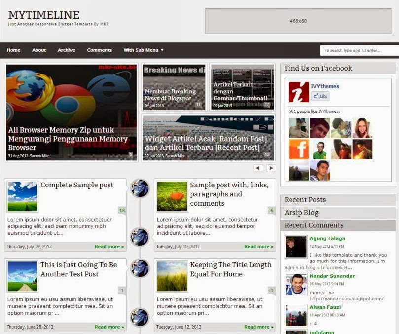 My Timeline Responsive Premium Blogger Template Keywords HERE - Timeline blogger template