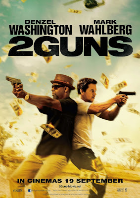2 Guns movie poster large malaysia