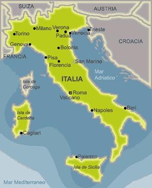 Mapa de Italia sencillo