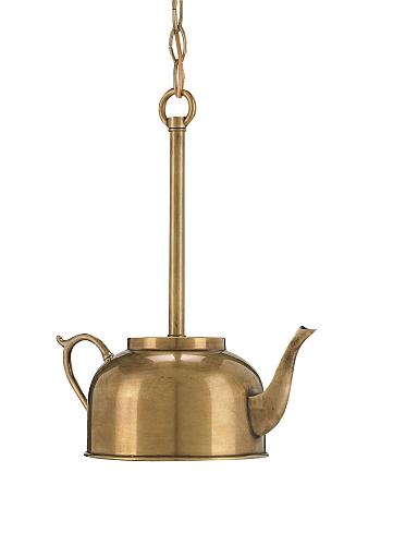 brass small pendant light