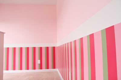 Decoracion actual de moda ideas para decorar y pintar las paredes a rayas - Pintar pared a rayas horizontales ...