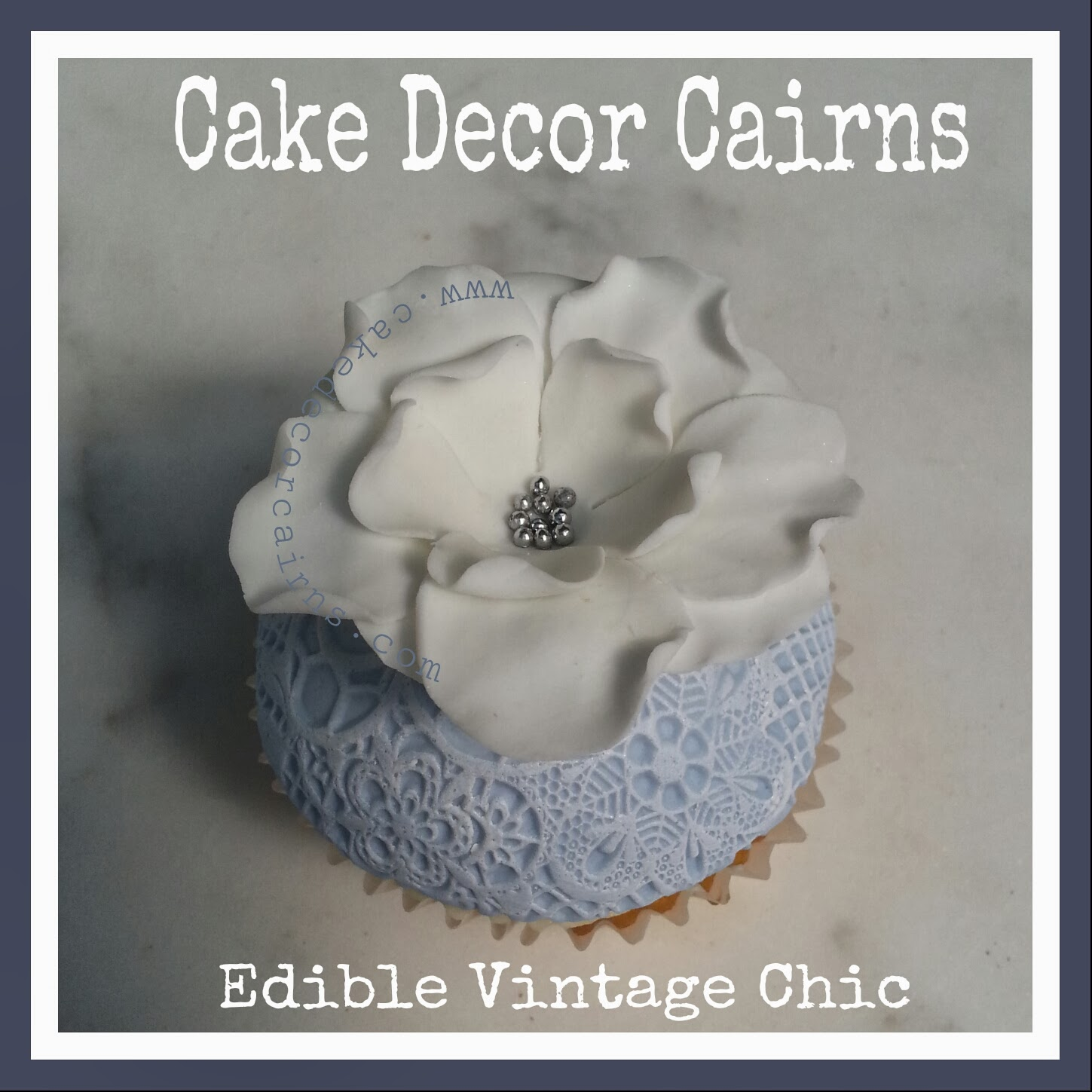 Vintage Lace Fondant Cupcakes inspired by Carina's Cupcakes