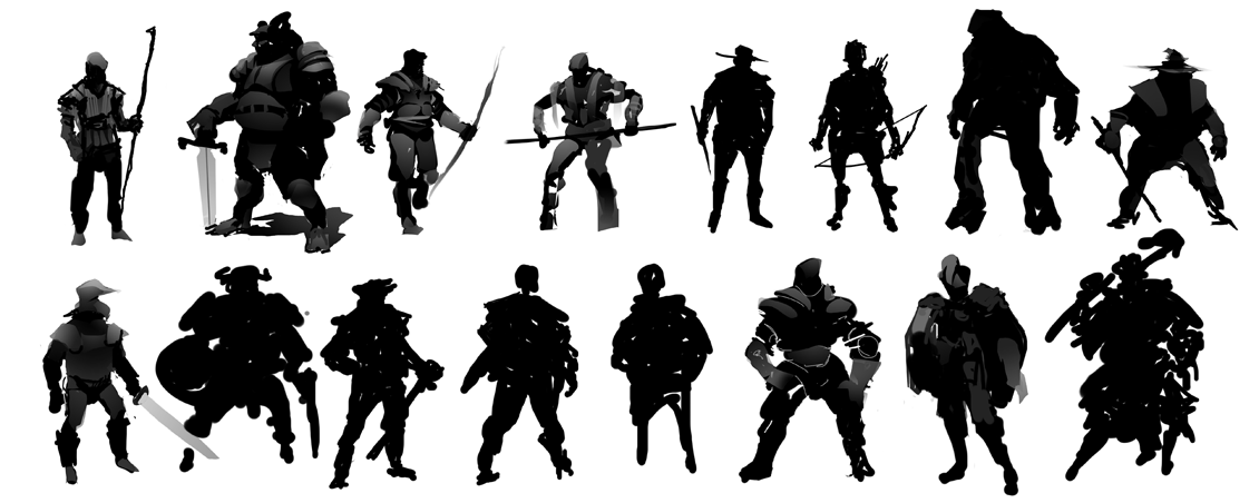 Character Design Silhouette : Character design silhouette the occasional sketch