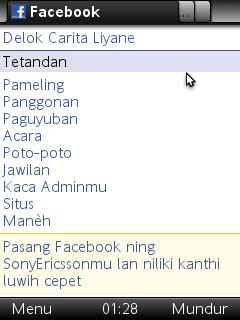 Membuat FB berbahasa jawa