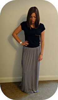 Warehouse, Warehouse Skirt, Maxi, Skirt, Grey Maxi Skirt, Maxi Skirt