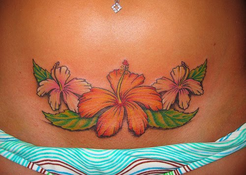 Tropical Flower Tattoos