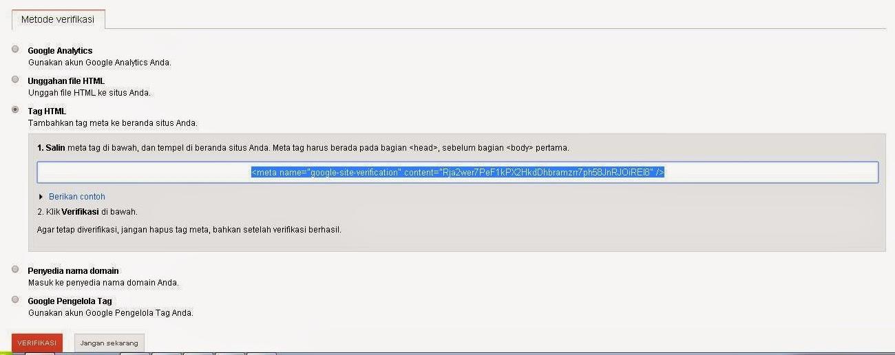Cara Mendaftarkan (Submit) Blog ke Google Webmaster Tools