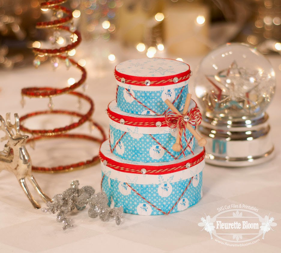 Christmas Drum Gift Box set ~ Trendy Twine Guest Designer Fleurette