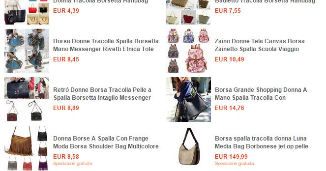 ebay offerte del giorno borse