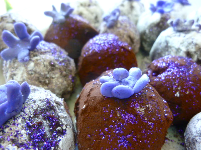 Diary of a Mad Hausfrau: Bittersweet Chocolate Violet Truffles for ...